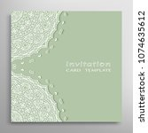 invitation or card template... | Shutterstock .eps vector #1074635612