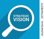 finance concept  magnifying... | Shutterstock .eps vector #1074638375
