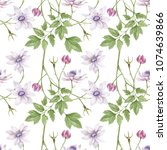 watercolor seamless pattern.... | Shutterstock . vector #1074639866
