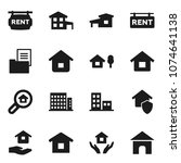 flat vector icon set   house... | Shutterstock .eps vector #1074641138