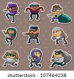 thief stickers | Shutterstock .eps vector #107464238