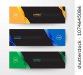 modern geometrics banners web... | Shutterstock .eps vector #1074645086