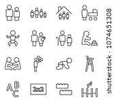 flat vector icon set   man and... | Shutterstock .eps vector #1074651308