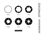 shutter  aperture flat icons... | Shutterstock .eps vector #1074651422