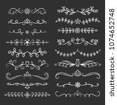 collection of hand drawn...   Shutterstock .eps vector #1074652748