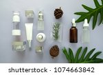 cosmetic packaging set on...   Shutterstock . vector #1074663842
