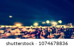 abstract blurred outdoor party... | Shutterstock . vector #1074678836