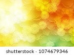 light red  yellow vector doodle ... | Shutterstock .eps vector #1074679346