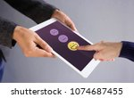 customer experience concept.... | Shutterstock . vector #1074687455