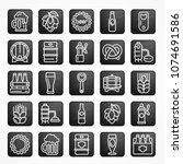 set of linear beer icons on...   Shutterstock .eps vector #1074691586