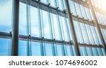 window wall of building ... | Shutterstock . vector #1074696002