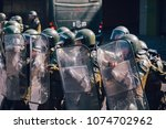 santiago  chile   april 19 ... | Shutterstock . vector #1074702962