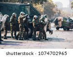 santiago  chile   april 19 ... | Shutterstock . vector #1074702965