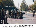 santiago  chile   april 19 ... | Shutterstock . vector #1074702998
