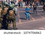 santiago  chile   april 19 ... | Shutterstock . vector #1074706862