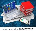 3d illustration of business... | Shutterstock . vector #1074707825