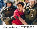 santiago  chile   april 19 ... | Shutterstock . vector #1074713552