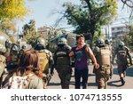 santiago  chile   april 19 ... | Shutterstock . vector #1074713555