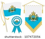 san marino flag  rosette and...