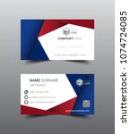 business card template design.... | Shutterstock .eps vector #1074724085