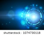 abstract technology background...   Shutterstock .eps vector #1074730118