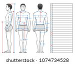 a man in his underwear is seen... | Shutterstock .eps vector #1074734528