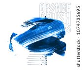 blue brush stroke and texture....   Shutterstock .eps vector #1074735695