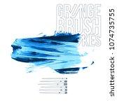 blue brush stroke and texture....   Shutterstock .eps vector #1074735755