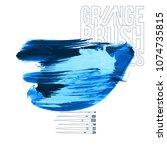 blue brush stroke and texture.... | Shutterstock .eps vector #1074735815