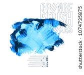 blue brush stroke and texture.... | Shutterstock .eps vector #1074735875