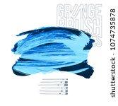 blue brush stroke and texture.... | Shutterstock .eps vector #1074735878