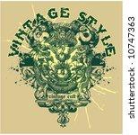 vintage template | Shutterstock .eps vector #10747363