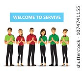receptionist .business people... | Shutterstock .eps vector #1074741155