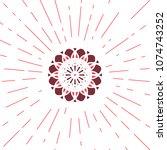 circular ornamental sun symbol. ...   Shutterstock .eps vector #1074743252