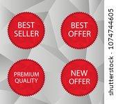 red triangular label set. best... | Shutterstock . vector #1074744605