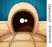 mouse mink illustration.... | Shutterstock .eps vector #1074744992