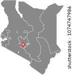 kenya map vector outline... | Shutterstock .eps vector #1074747986