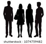 set vector silhouettes men and... | Shutterstock .eps vector #1074759482