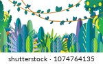 jungle vector illustration ... | Shutterstock .eps vector #1074764135