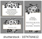 invitation with floral... | Shutterstock .eps vector #1074764612