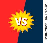 versus vs letters fight... | Shutterstock .eps vector #1074765605
