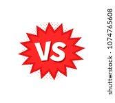 versus vs letters fight... | Shutterstock .eps vector #1074765608
