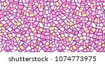 bright abstract mosaic seamless ... | Shutterstock .eps vector #1074773975