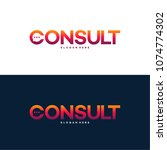 modern gradient consulting... | Shutterstock .eps vector #1074774302