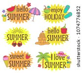set of isolated summer... | Shutterstock .eps vector #1074776852