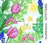 floral seamless pattern ... | Shutterstock .eps vector #1074776882