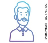 businessman with beard avatar... | Shutterstock .eps vector #1074780422
