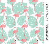 summer illustration seamless...   Shutterstock .eps vector #1074784415