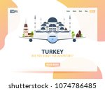 turkey. travel banner or web...