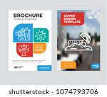 sand brochure flyer design... | Shutterstock .eps vector #1074793706